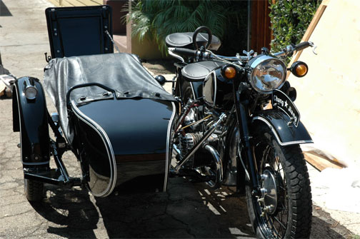 BMW Motorcycle with Sidecar